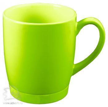 Кружка «Ирвинг» с силиконовой подставкой, светло-зеленая