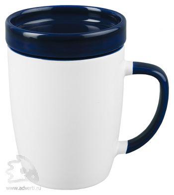 Кружка «Мак-Кинни» с крышкой, синяя