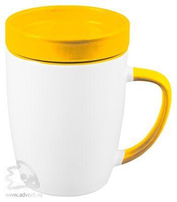 Кружка «Мак-Кинни» с крышкой, желтая