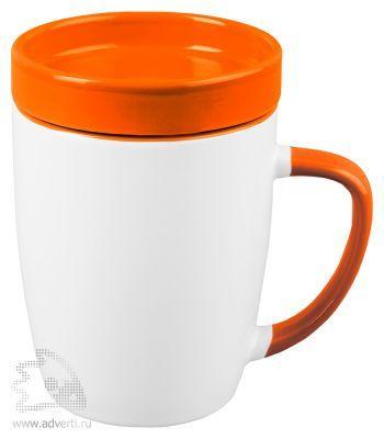 Кружка «Мак-Кинни» с крышкой, оранжевая