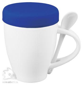 Кружка «Мескит» с силиконовой крышкой, синяя