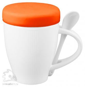 Кружка «Мескит» с силиконовой крышкой, оранжевая