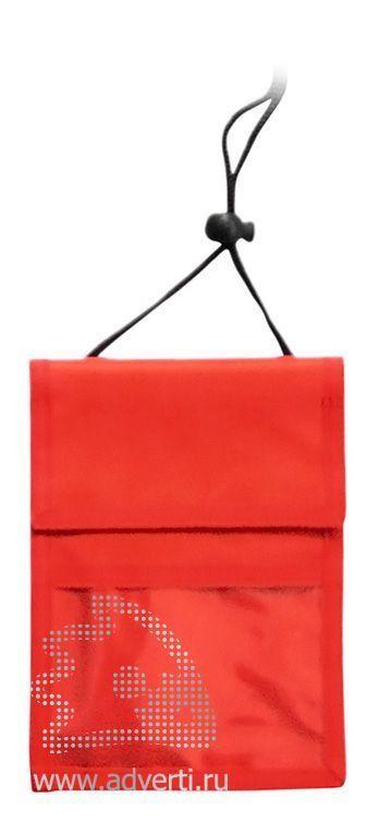 Нагрудное портмоне «Аквавива», красное
