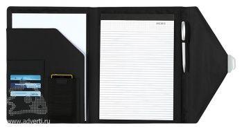 Папка для документов с блокнотом «Ривертон», открытая