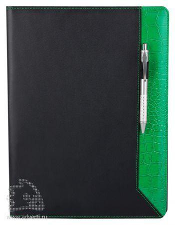 Папка для документов «Nadine», с зелеными элементами