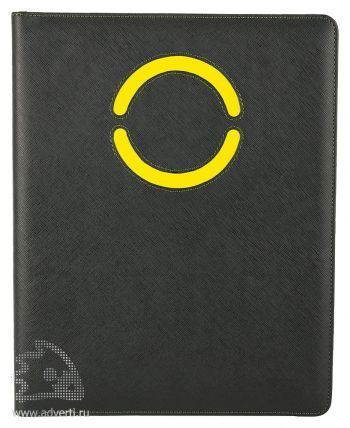 Папка для документов «Эдингбург», с желтыми элементами