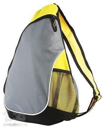 Треугольный рюкзак «Спортивный», желтый