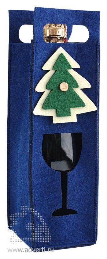 Декоративный чехол «Новогодний», синий