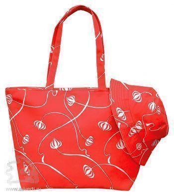Пляжный набор «Боракай»: пляжная сумка и панама, красный