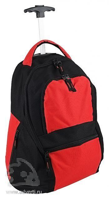 Рюкзак на колесиках «Осло», красный