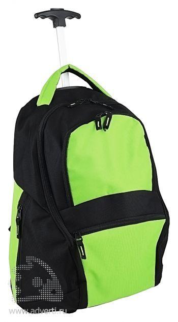 Рюкзак на колесиках «Осло», зеленый