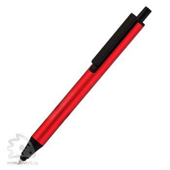 Ручка шариковая со стилусом «Flute Touch» Klio Eterna, красная