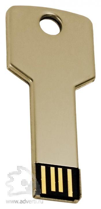 Флеш-память «Ключ», золотистая