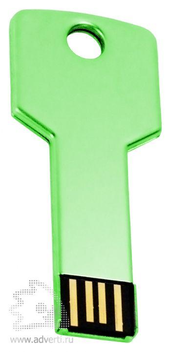Флеш-память «Ключ», зеленая