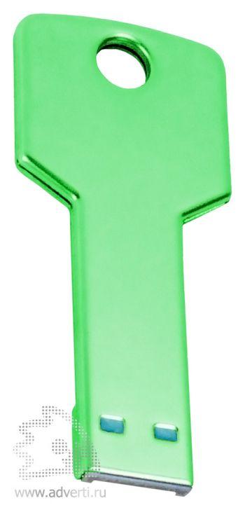 Флеш-память «Ключ», зеленая, обратная сторона