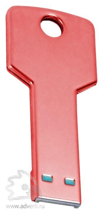 Флеш-память «Ключ», красная, обратная сторона