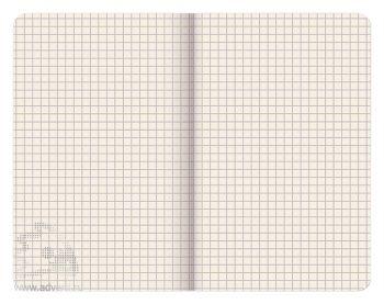 Внутренний блок для записной книги А4, А5, А6, в клетку