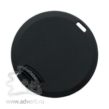 Флеш-карта «Круг» с покрытием soft touch, черная