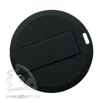 Флеш-карта «Круг» с покрытием soft touch, оборотная сторона