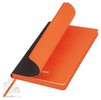 Ежедневник «Latte», черный с оранжевым