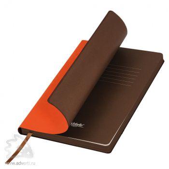 Ежедневник «Latte», оранжевый с коричневым
