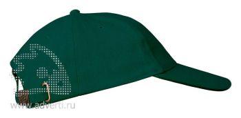 Бейсболка «Leader 200», темно-зеленая