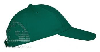 Бейсболка «Leader 70» 5 клиньев, темно-зеленая