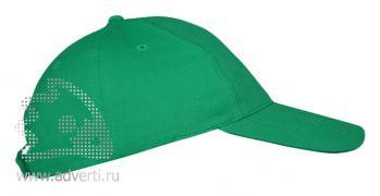 Бейсболка «Leader 70» 5 клиньев, зеленая