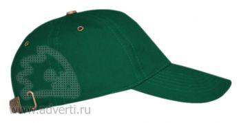 Бейсболка «Leader 100», темно-зеленая