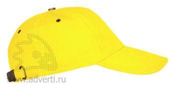 Бейсболка «Leader 100», ярко-желтая
