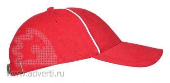 Бейсболки «Leader 206», красная