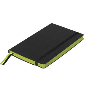 Ежедневники «Space Soft», гибкая обложка, чёрный со светло-зелёным, в закрытом виде