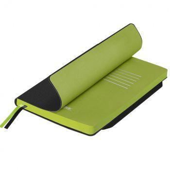 Ежедневники «Space Soft», гибкая обложка, чёрный со светло-зелёным