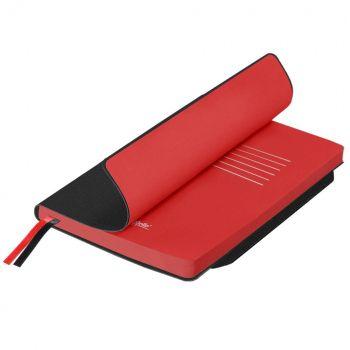Ежедневники «Space Soft», гибкая обложка, чёрный с красным
