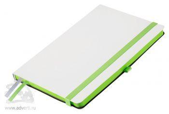 Ежедневники «Arctic», белые с зеленым