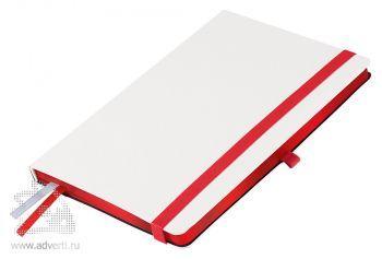 Ежедневники «Arctic», белые с красным