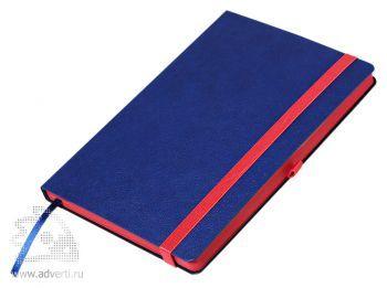 Ежедневник недатированный А5, Portobello Trend Aurora, синий с красным