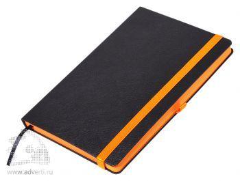 Ежедневники «Aurora», черные с оранжевым
