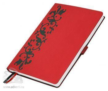 Ежедневники «Русские Узоры», красные с зеленым
