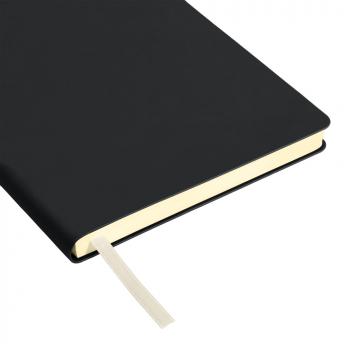 Ежедневник Spark А5, недатированный, чёрный, ляссе