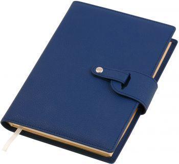 Ежедневник-портфолио «Passage», синий, вид три четверти