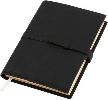 Ежедневник-портфолио «River», чёрные, вид три четверти