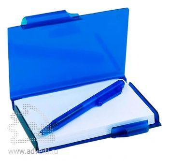 Футляр для записей с ручкой «Идея», синий