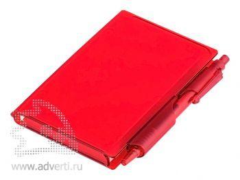 Футляр для записей с ручкой «Идея», красный