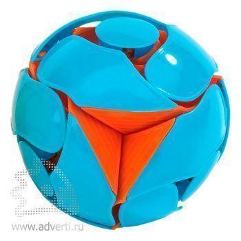 Мяч-трансформер магический, голубой с оранжевым
