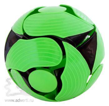 Мяч-трансформер магический, черный с зеленым