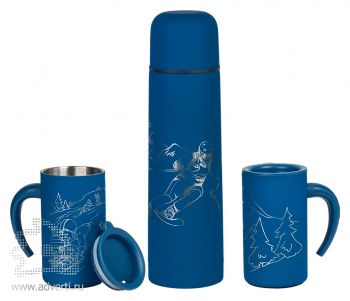 Набор подарочный «Калейдоскоп»: термос, 2 кружки