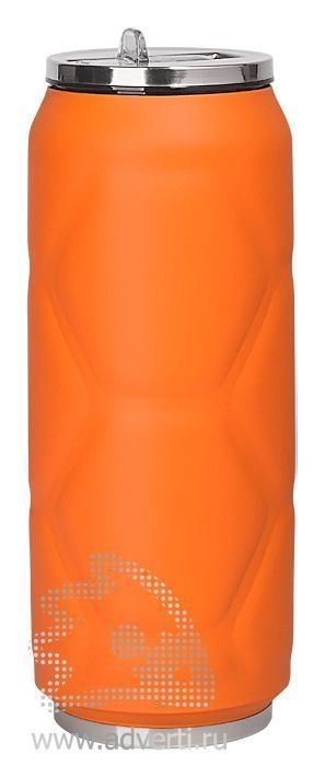 Термостакан «Футбол», оранжевая