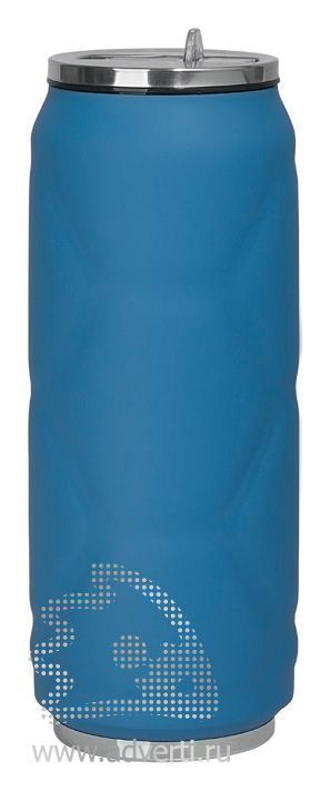 Термостакан «Футбол», синяя