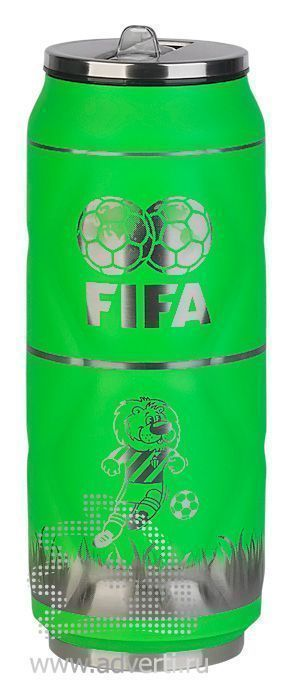 Термостакан «Футбол», пример по нанесению